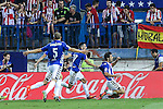 Deportivo Alaves's players during the match of La Liga Santander between Atletico de Madrid and Deportivo Alaves at Vicente Calderon Stadium. August 21, 2016. (ALTERPHOTOS/Rodrigo Jimenez)