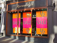 Sale at Accessorize, Guildford High Street.