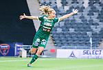 ****BETALBILD**** Stockholm 2015-04-11 Fotboll Damallsvenskan Hammarby IF DFF - Mallbackens IF Sunne  :  <br /> Mallbackens Elin Nyman firar sitt 1-1 m&aring;l under matchen mellan Hammarby IF DFF och Mallbackens IF Sunne  <br /> (Foto: Kenta J&ouml;nsson) Nyckelord:  Fotboll Damallsvenskan Dam Damer Tele2 Arena Hammarby HIF Bajen Mallbacken jubel gl&auml;dje lycka glad happy