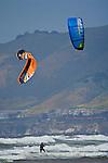 Parasurfing at Oceano State Beach, Oceano, California