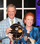 Stanley Zareff and Edwina Sandys during the Urban Stages' 35th Anniversary celebrating Women in the Arts at the Central Park Boat House on May 15, 2019 in New York City.