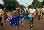 Batonbearer Mervyn Bond carrying the Baton as the Queen's Baton Relay visited New Mapoon. In the host state of Queensland the Queen's Baton will visit 83 communities from Saturday 3 March to Wednesday 4 April 2018. As the Queen's Baton Relay travels the length and breadth of Australia, it will not just pass through, but spend quality time in each community it visits, calling into hundreds of local schools and community celebrations in every state and territory. The Gold Coast 2018 Commonwealth Games (GC2018) Queen's Baton Relay is the longest and most accessible in history, travelling through the Commonwealth for 388 days and 230,000 kilometres. After spending 100 days being carried by approximately 3,800 batonbearers in Australia, the Queen's Baton journey will finish at the GC2018 Opening Ceremony on the Gold Coast on 4 April 2018.