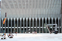 N.Y. City: World Trade Center. Minoru Yamasaki & Assoc., Emory Roth & Sons, 1970-1977.  Photo '88.