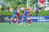 Boston, MA - Saturday July 01, 2017: Tori Huster and Rosie White during a regular season National Women's Soccer League (NWSL) match between the Boston Breakers and the Washington Spirit at Jordan Field.