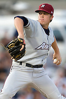 Norhtwest Arkansas Natural pitcher Buddy Baumann #22 delivers during the Texas League All Star Game played on June 29, 2011 at Nelson Wolff Stadium in San Antonio, Texas. The South All Star team defeated the North All Star team 3-2. (Andrew Woolley / Four Seam Images)