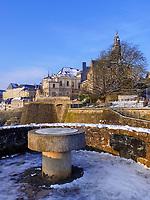 Michaelskirche, Bock-Kasematten- Casemates du Bock, Luxemburg-City, Luxemburg, Europa, UNESCO-Weltkulturerbe<br /> Bock Sasemate and St. Michael, Luxembourg City, Europe, UNESCO Heritage Site