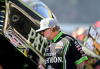 Jun 10, 2016; Englishtown, NJ, USA; Television personality Jesse James , husband of NHRA funny car driver Alexis DeJoria (not pictured) during qualifying for the Summernationals at Old Bridge Township Raceway Park. Mandatory Credit: Mark J. Rebilas-USA TODAY Sports