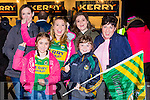 Jacinta breen, Aidan Breen, Amy Breen, kerry Richardson, Richard and holly richardson cheering on their heroes at the Kerry team homecoming in Killarney on Monday