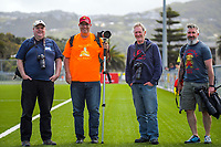 Photographers at the National Women's League football match between Capital and WaiBoP at Petone Memorial Park in Petone, New Zealand on Monday, 28 Octoberber 2019. Photo: Dave Lintott / lintottphoto.co.nz