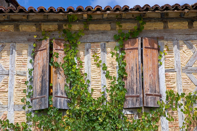 Window shutters, Labastide d'Armagnac, France