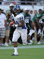 Armwood Hawks running back Matthew Jones #24 scores a 80 yard touchdown during the fourth quarter of the Florida High School Athletic Association 6A Championship Game at Florida's Citrus Bowl on December 17, 2011 in Orlando, Florida.  Armwood defeated Miami Central 40-31.  (Mike Janes/Four Seam Images)