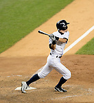 Ichiro Suzuki (Yankees),<br /> JUNE 25, 2013 - MLB :<br /> Ichiro Suzuki of the New York Yankees hits a walk off home run in the ninth inning during the Major League Baseball game against the Texas Rangers at Yankee Stadium in The Bronx, New York, United States. (Photo by AFLO)