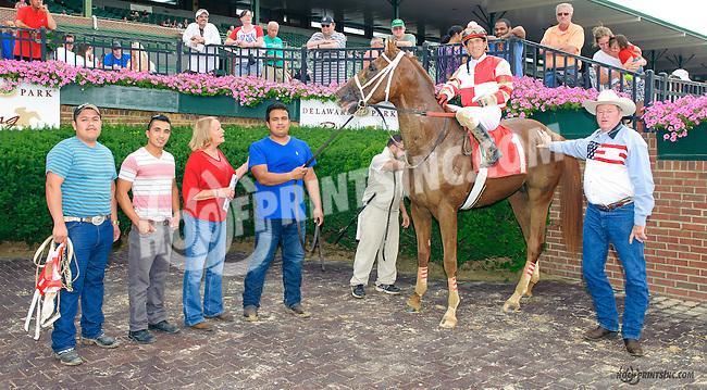 Bluff winning at Delaware Park on 7/4/15