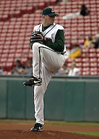 June 26, 2004:  Chad Durbin of the Buffalo Bisons, International League (AAA) affiliate of the Cleveland Indians, during a game at Dunn Tire Park in Buffalo, NY.  Photo by:  Mike Janes/Four Seam Images