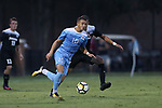 ELON, NC - AUGUST 25: North Carolina's Zach Wright. The University of North Carolina Tar Heels hosted the Providence College Friars on August 25, 2017 at Rudd Field in Elon, NC in a Division I college soccer game. UNC won the game 4-2.