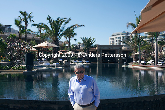 CAPE TOWN, SOUTH AFRICA – APRIL 2: Sol Kerzner, the South African hotel magnate, poses for a portrait at his new One&Only resort on April 2, 2009 in Cape Town, South Africa. Mr. Kerzner's latest hotel is located at the W&A Waterfront in the city. He invited hundreds of friends to the opening party. (Photo by Per-Anders Pettersson)