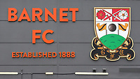 General view of the outside of the Main Stand at Barnet FC during Barnet vs Solihull Moors, Vanarama National League Football at the Hive Stadium on 28th September 2019