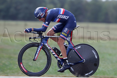 23.09.2015. Richmond, Virginia, USA. World Championship Cycling, Mens Elite time trials.  Jerome Coppel of France