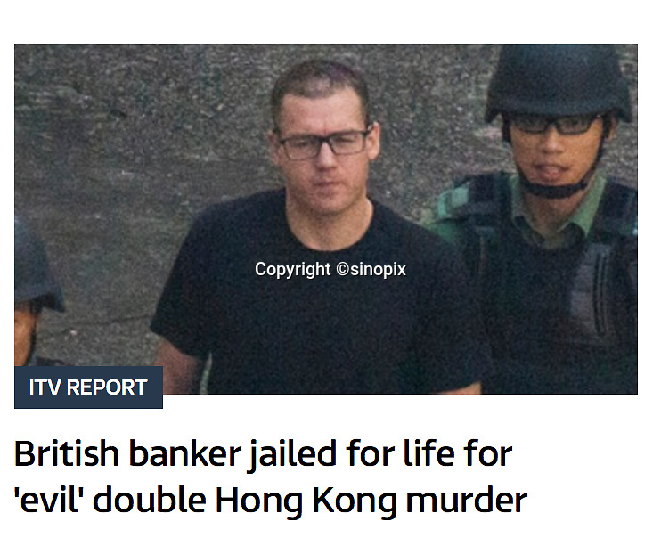 British banker Rurik Jutting found guilty of murdering two Indonesian women in Hong Kong on 8th Nov, 2016