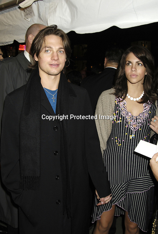 "Gregory Smith of Everwood  and date ..at The New York Premiere of ""Elizabethtown""  on     October 10, 2005 at The Loews LIncoln Square. ..Photo by Robin Platzer, Twin Images"