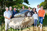 Killarney Tidy Towns Committee presented this Salmon sculpture to the Beaufort Tidy Towns Committee on Monday l-r: Tim Moriarty, Padraig O'Sullivan, Thomas O'sulllvan, Jack McGrath, Kathleen Foley, Yvonne Quill,  Aisling Leane  Proinsias Mac Curtain and Eileen O'Neill