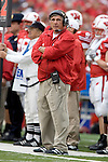 MADISON, WI - SEPTEMBER 9: Assistant coach Bob Palcic of the Wisconsin Badgers watches a replay during the game against the Western Illinois Leathernecks at Camp Randall Stadium on September 9, 2006 in Madison, Wisconsin. The Badgers beat the Leathernecks 34-10. (Photo by David Stluka)