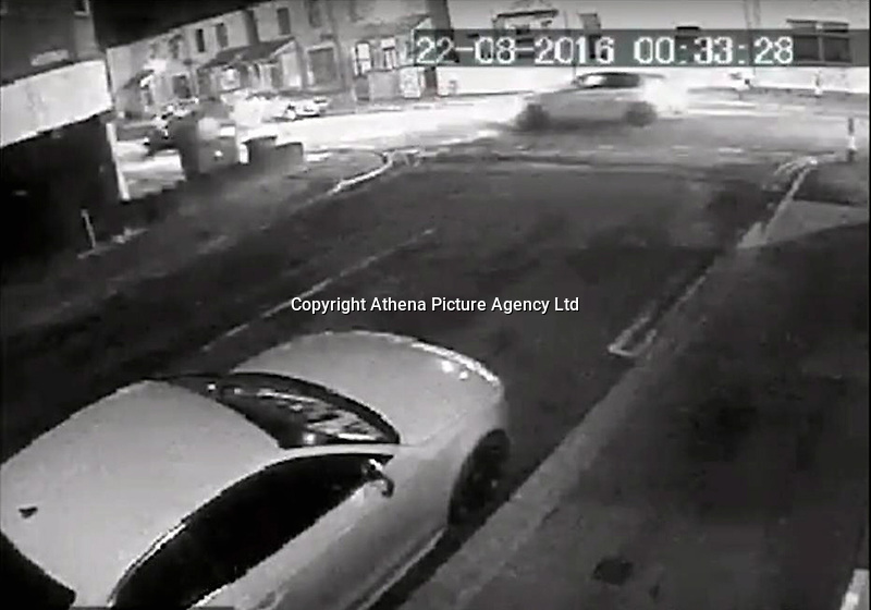 "Pictured: CCTV screen grab showing the BMW driven by Sophie Taylor chased by Melissa Pesticcio and Michael Wheeler<br /> Re: A woman and her ex-boyfriend who killed a ""love rival"" after a car chase led to a crash have been jailed.<br /> Sophie Taylor, 22, died when her BMW hit a block of flats in Adamsdown, Cardiff, in August 2016.<br /> Melissa Pesticcio, 24, of Llanrumney, was convicted of death by dangerous driving and jailed for six-and-a-half years at Cardiff Crown Court.<br /> Michael Wheeler, 23, of Tremorfa, who admitted the same charge, was given a seven-and-a-half year sentence.<br /> Pesticcio was also convicted of causing serious injury by dangerous driving to Joshua Deguara, a passenger in Miss Taylor's car.<br /> Judge Thomas Crowther QC said ""the shattering of two families was completely avoidable"" and was ""caused by you two being consumed by a self righteous and jealous rage, chasing her down to frighten her and teach her a lesson""."