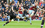 Burnley's Ashley Barnes shoots during the premier league match at the Turf Moor Stadium, Burnley. Picture date 10th September 2017. Picture credit should read: Paul Burrows/Sportimage