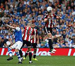 Jack O'Connell of Sheffield Utd heads clear during the Championship match at the Hillsborough Stadium, Sheffield. Picture date 24th September 2017. Picture credit should read: Simon Bellis/Sportimage