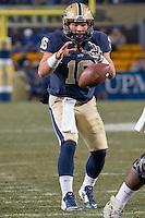 Pitt quarterback Chad Voytik. The Pitt Panthers defeated the Syracuse Orange 30-7 at Heinz Field, Pittsburgh, Pennsylvania on November 22, 2014.