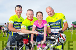 l-r Ger Fitzgerald, Kieran Buicke, Marie Buicke and Maurice Flynn from Abbeyfeale cycling club at the  Finuge Freewheelers cycling club Ring Of North Kerry Cycle on Saturday
