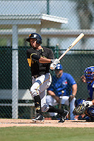 Pittsburgh Pirates Justin Maffei (86) during a minor league spring training game against the Toronto Blue Jays on March 21, 2015 at Pirate City in Bradenton, Florida.  (Mike Janes/Four Seam Images)