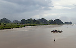 Halong-Vietnam, Ha Long - Viet Nam - 22 July 2005---Bach Dang river near Hai Phong and Ha Long running through characteristic landscape dominated by limestone rocks and islets---landscape, nature---Photo: Horst Wagner/eup-images