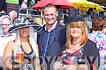 Ann Kelly, Scott Marr and Stephanie Kelly enjoying the Listowel Races on Sunday