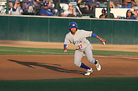 Malvin Mercedes (37) of the Stockton Ports leads off of first base  during a game against the Rancho Cucamonga Quakes at LoanMart Field on June 13, 2015 in Rancho Cucamonga, California. Stockton defeated Rancho Cucamonga, 14-2. (Larry Goren/Four Seam Images)