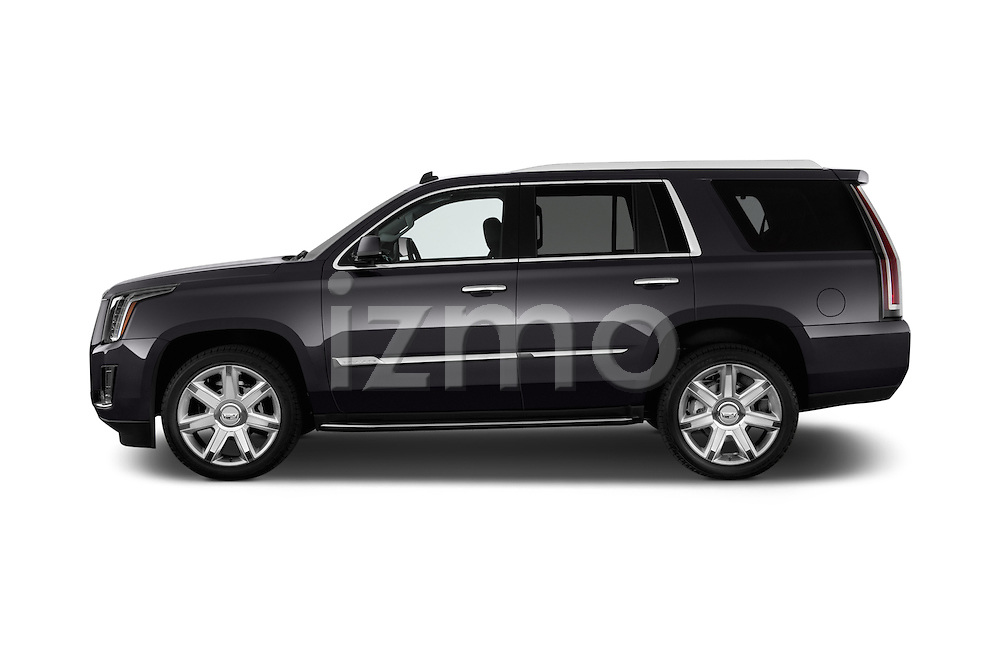 Car Driver side profile view of a 2017 Cadillac Escalade Luxury 5 Door SUV Side View