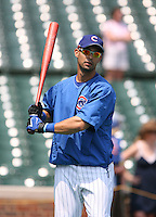 Angel Pagan of the Chicago Cubs vs. the San Diego Padres: June 18th, 2007 at Wrigley Field in Chicago, IL.  Photo by Mike Janes/Four Seam Images