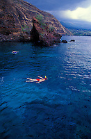 Snorkeling in Kealakekua bay, South of Kona, Big island of  Hawaii