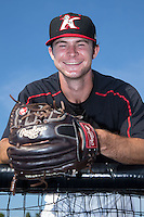 Kannapolis Intimidators relief pitcher Connor Walsh (45) poses for a photo prior to the game against the Hagerstown Suns at CMC-Northeast Stadium on July 18, 2015 in Kannapolis, North Carolina.  The Intimidators defeated the Suns 1-0.  (Brian Westerholt/Four Seam Images)