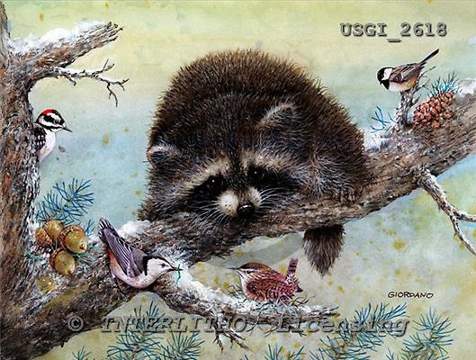 GIORDANO, CHRISTMAS ANIMALS, WEIHNACHTEN TIERE, NAVIDAD ANIMALES, paintings+++++,USGI2618,#XA#