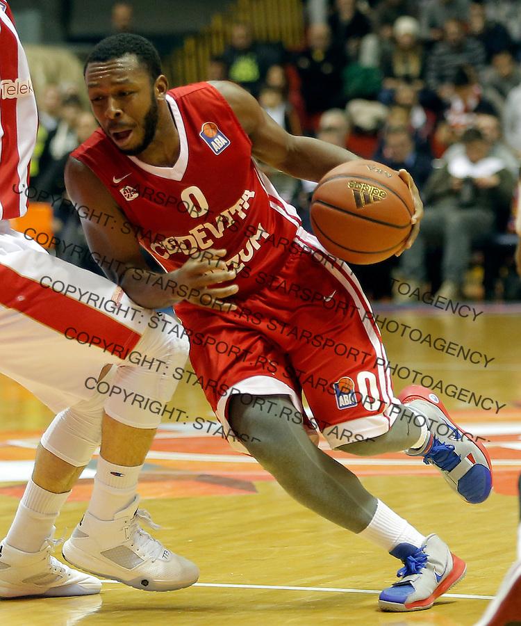 Jacob Pullen Crvena Zvezda - Cedevita kosarka ABA regionalna liga 4.1.1016. Januar 4. 2016. (credit image & photo: Pedja Milosavljevic / STARSPORT)