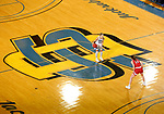 BROOKINGS, SD - FEBRUARY 22: Tylee Irwin #21 of the South Dakota State Jackrabbits brings the ball up court against Ciara Duffy #24 of the South Dakota Coyotes Saturday at Frost Arena in Brookings, SD. (Photo by Dave Eggen/Inertia)