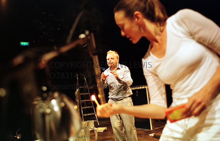 Toby Goughin Missing Reel at the Traverse  Theatre Edin 2001 pic Geraint Lewis