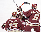 Chris Collins, Brock Bradford, Brian Boyle, Tim Filangieri - The Boston College Eagles defeated the Boston University Terriers 5-0 on Saturday, March 25, 2006, in the Northeast Regional Final at the DCU Center in Worcester, MA.