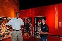 30 September, 2010, Kansas City, Kansas USA.Brad Daugherty and Denny Hamlin tour The College Basketball Experience..©2010, F. Peirce Williams, USA.