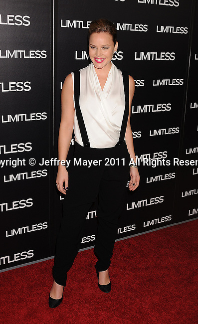 """HOLLYWOOD, CA - MARCH 03: Abbie Cornish attends the Los Angeles special screening of """"Limitless"""" at ArcLight Cinemas Cinerama Dome on March 3, 2011 in Hollywood, California."""