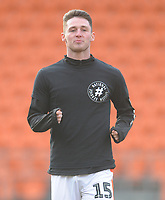 Blackpool's Jordan Thompson during the pre-match warm-up <br /> <br /> Photographer Kevin Barnes/CameraSport<br /> <br /> The EFL Sky Bet League One - Blackpool v Walsall - Saturday 9th February 2019 - Bloomfield Road - Blackpool<br /> <br /> World Copyright © 2019 CameraSport. All rights reserved. 43 Linden Ave. Countesthorpe. Leicester. England. LE8 5PG - Tel: +44 (0) 116 277 4147 - admin@camerasport.com - www.camerasport.com