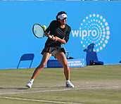 June 15th 2017, Nottingham, England;WTA Aegon Nottingham Open Tennis Tournament day 6;  Backhand from Su-Wei Hsieh of Taipei who took the first set in the match against Lucie Safarova of Czech Republic