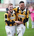 East Fife's Ryan Stewart and East Fife's Nathan Austin at the end of the game.