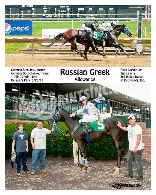 Russian Greek winning at Delaware Park on 6/27/13